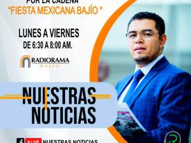 """NOTICIERO DE LA CADENA FIESTA MEXICANA BAJÍO """"NUESTRAS NOTICIAS"""" EL MAS IMPORTANTE DEL EST"""