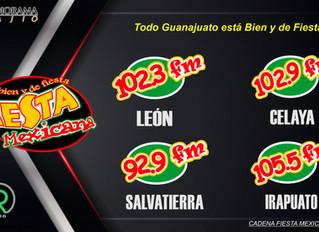 VUELVE FIESTA MEXICANA LEÓN 102.3 FM, LA NUEVA ERA DE LA RADIO EN LEÓN GTO