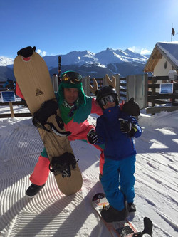 Course of snowboard with Quentin
