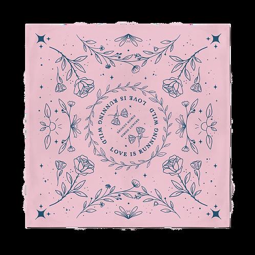 """Love Is Running Wild"" Lyric Bandana - Light Pink"