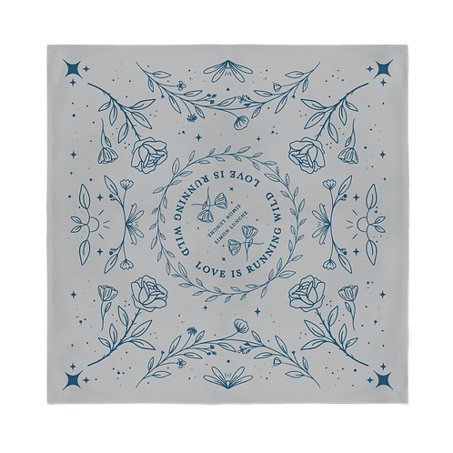 """Love Is Running Wild"" - Lyric Bandana - Light Gray"