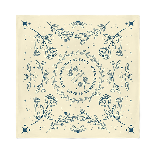 """Love Is Running Wild"" Bandana - Natural"