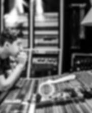 Simon Lunche in the recording studio