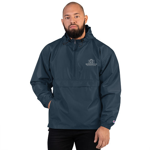 Embroidered Packable Wind/Rain Jacket
