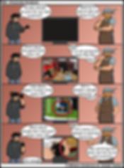 computer display comic images