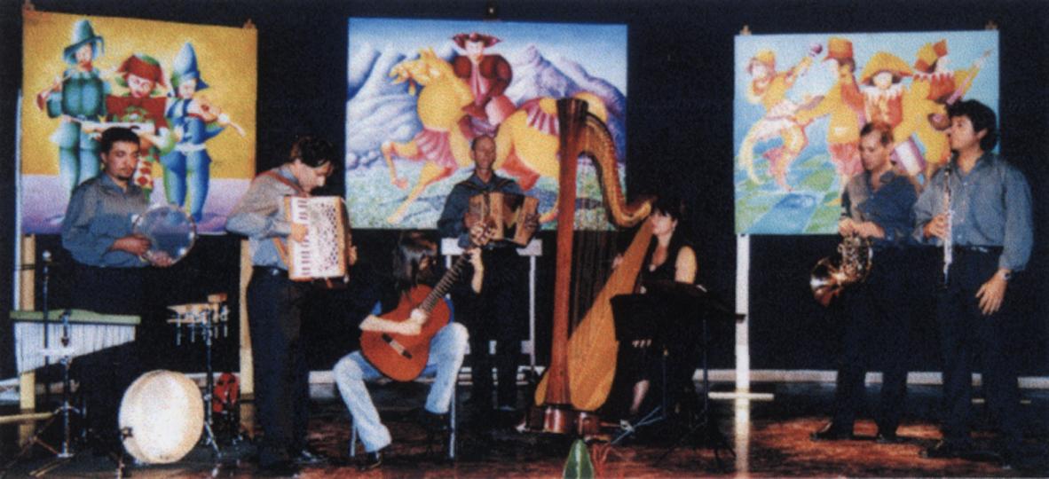 Opere esposte in occasione del concerto di Pagus