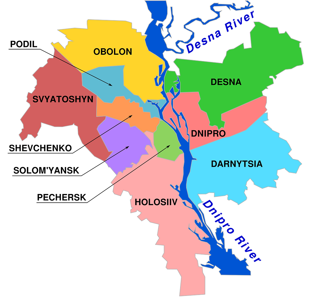 How many Districts in Kyiv, Kyiv Districts, Where to stay in Kyiv, Best places to stay in Kiev