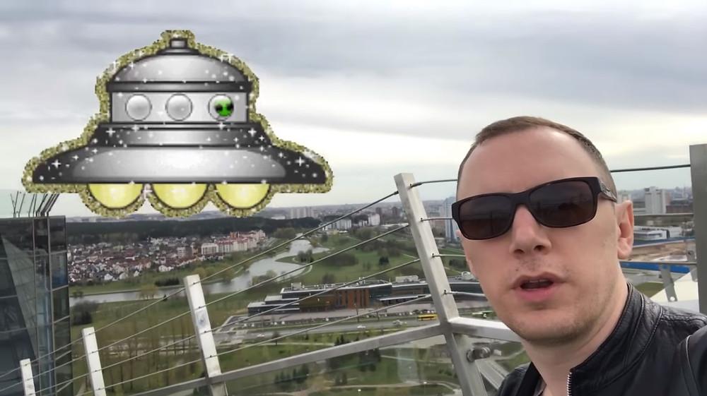 Alex van Terheyden in Minsk UFO