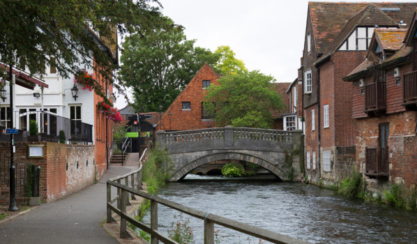 Winchester River Bank, Scenic Walk, Walking tour, Winchester England