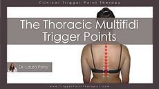 The Thoracic Multifidus trigger points video.
