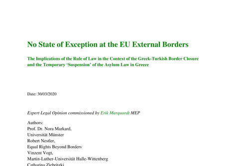 Expert Opinion by Equal Rights: Suspension of Asylum Law and Pushbacks in Greece Illegal