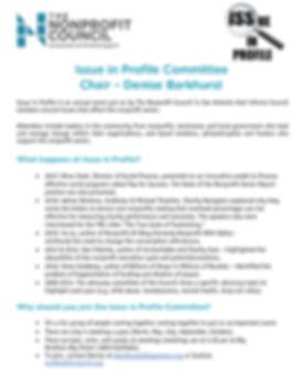 TNC Issue in Profile Committee description