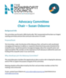 TNC Advocacy Committee description