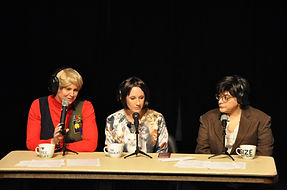 "Kim Jefferies, Katrina Campbell and Denise Thieme from Brighton Center present ""Donor Dish"""