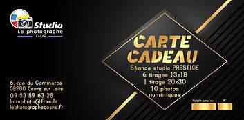 Carte cadeau photo studio