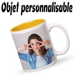 Objet personalisable mugs T shirt boites