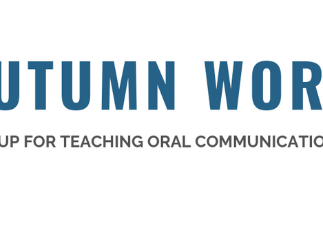 Alma is proud to sponsor the 17th annual Autumn Workshop of the Research Group for Teaching Oral Com