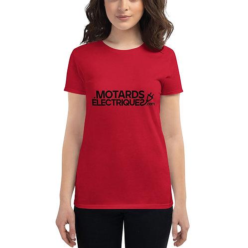 T-shirt Motards électriques.com à Manches Courtes pour Femmes