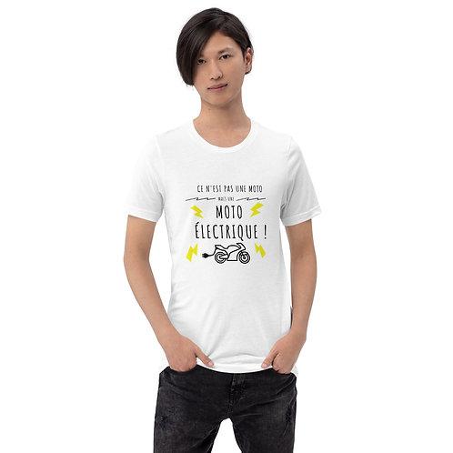 """T-shirt """"Ce n'est pas une moto"""" - Unisexe à Manches Courtes"""