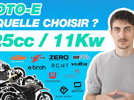 Motos électriques 11kW équivalentes 125cc