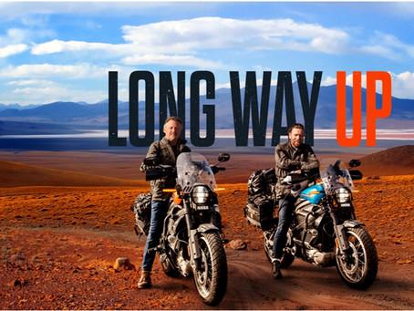"""Road trip de """"Long way up"""" 20.000km en moto électrique"""