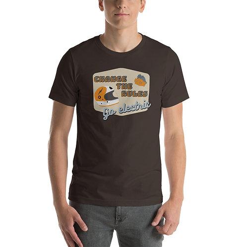 """T-shirt """"go electric"""" - Unisexe à Manches Courtes"""