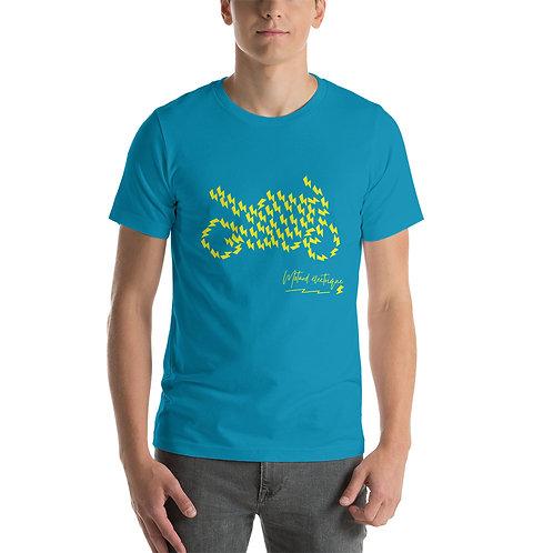 """T-shirt """"Eclaire de moto"""" - Unisexe à Manches Courtes"""