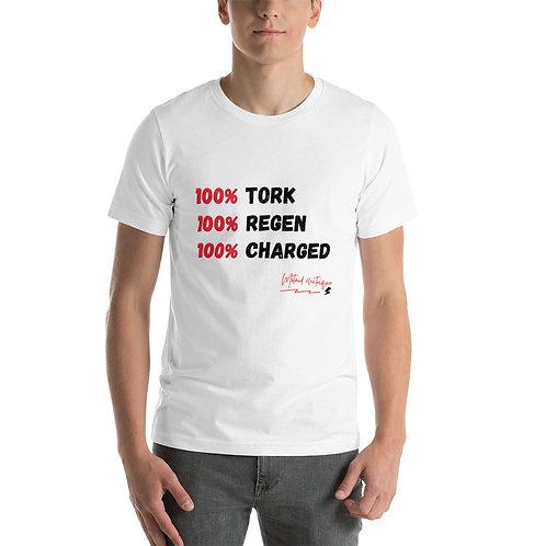 """T-shirt """"100% - Unisexe à Manches Courtes"""