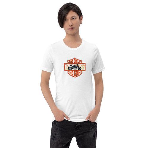 """T-shirt """"No belt no gain"""" - Unisexe à Manches Courtes"""