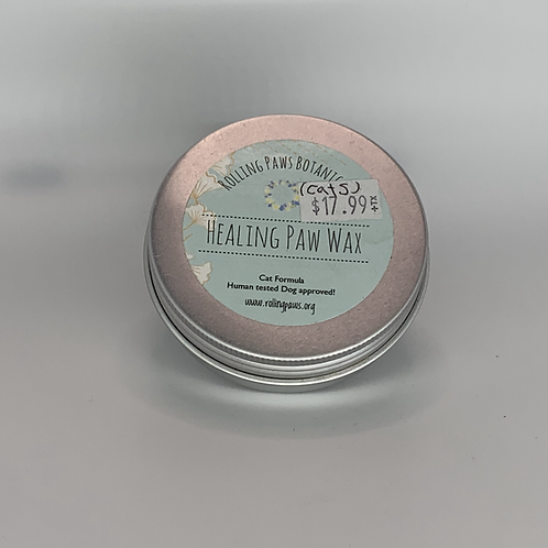 Rolling Paws Botanicals: Healing Paw Wax (CBD Salve for Cats) 2 oz