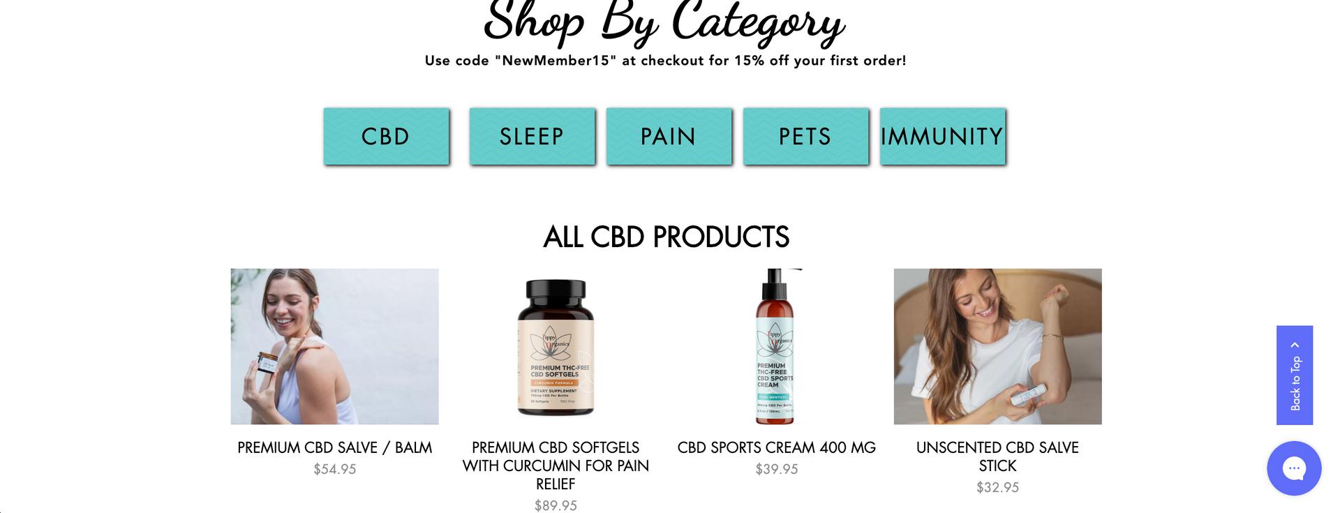 Tippy Organics Website