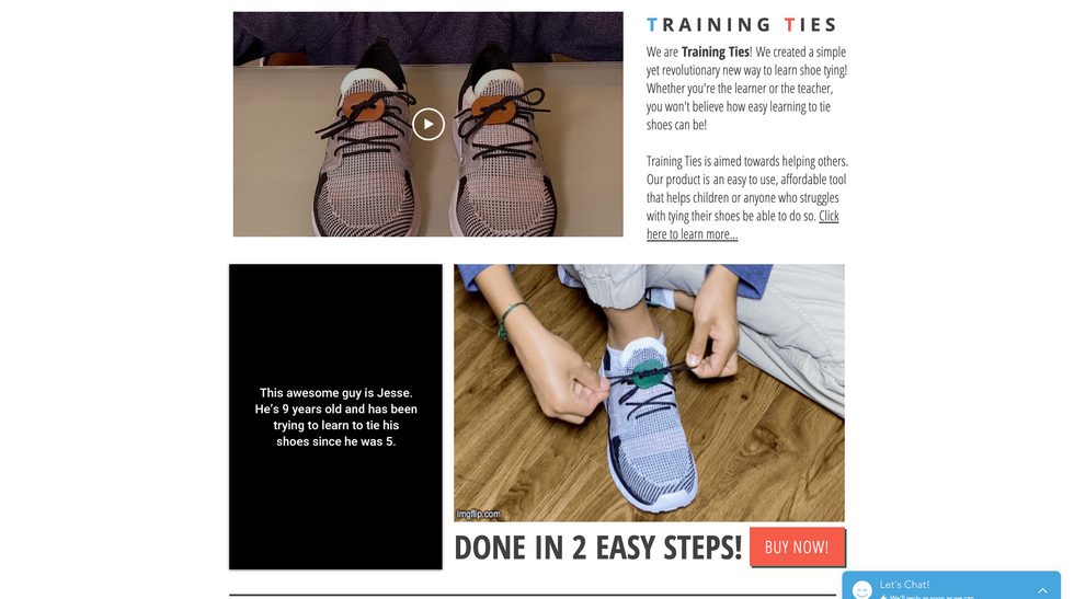 Training Ties Website