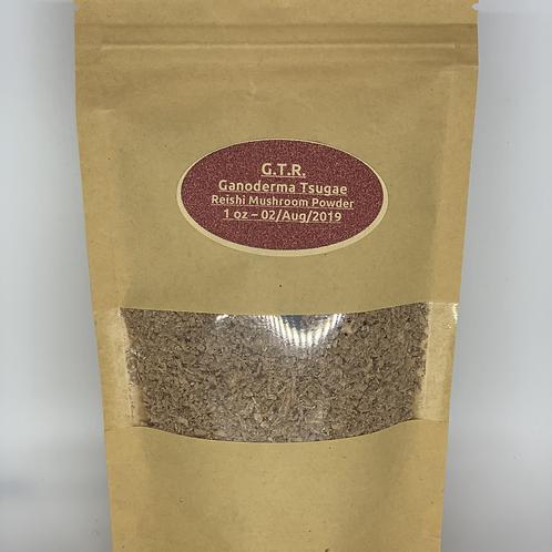 Ganoderma Tsugae Reishi Mushroom Powder - 1 oz