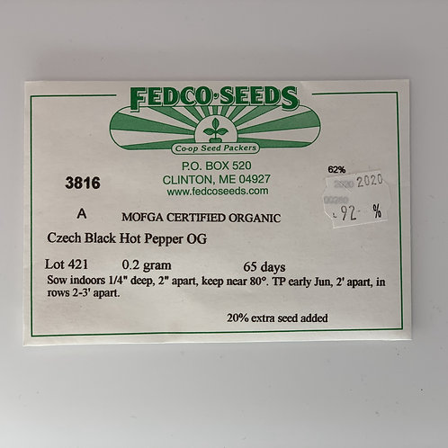 Czech Black Hot Pepper Seeds
