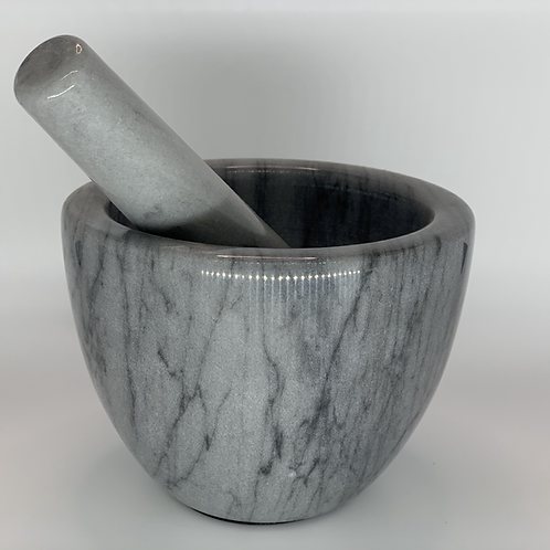 """Grey Marble"" Mortar & Pestle Bowl"