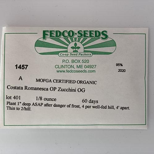 Costata Romanesca OP Zucchini Seeds