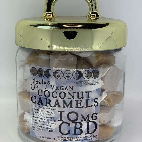 Jordy's CBD Caramels - Vegan Coconut - 10 mg