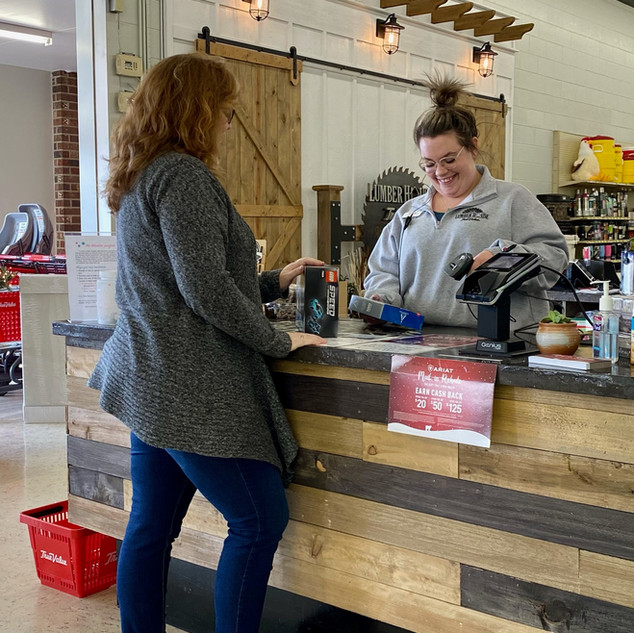 Always a friendly smile for you at Lumber House