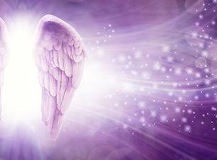 Purple Sparkle Angel Wings Message Board