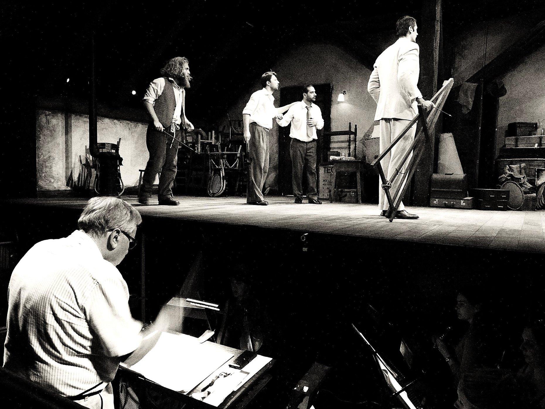 La Bohème rehearsals