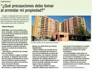 ¿Que precauciones debo tomar al arrendar mi propiedad?