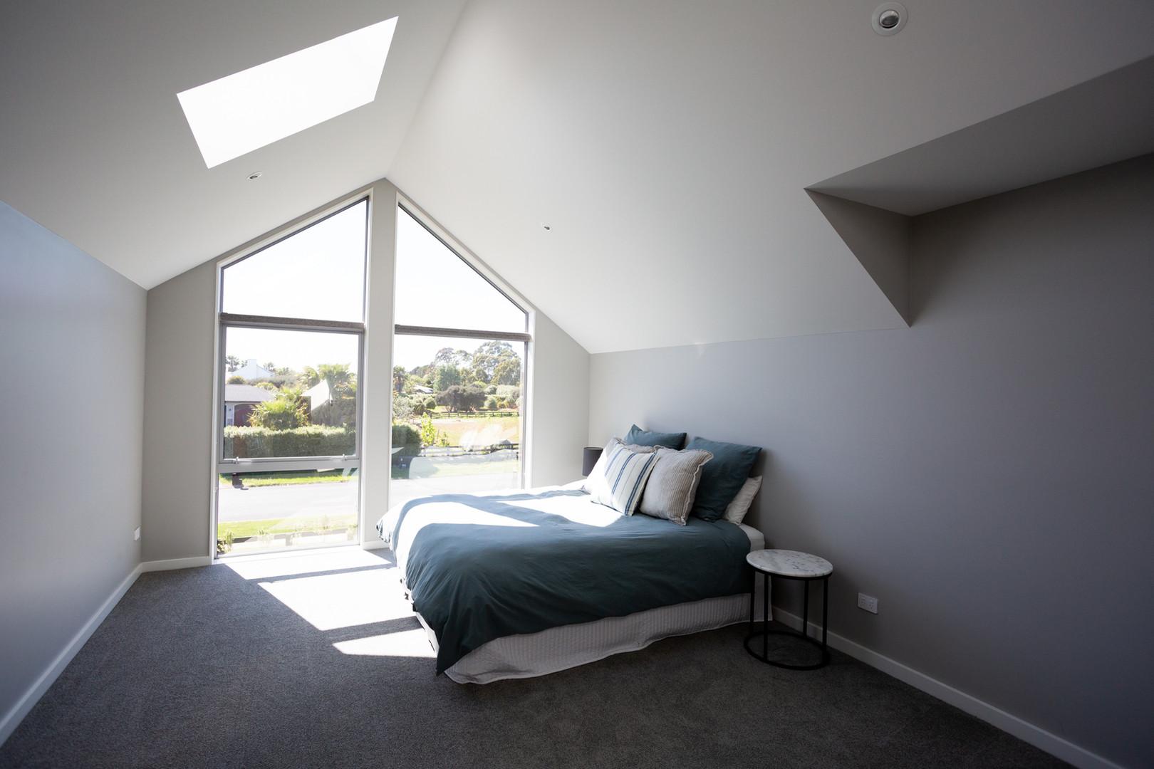 Upstairs loft room with skylight