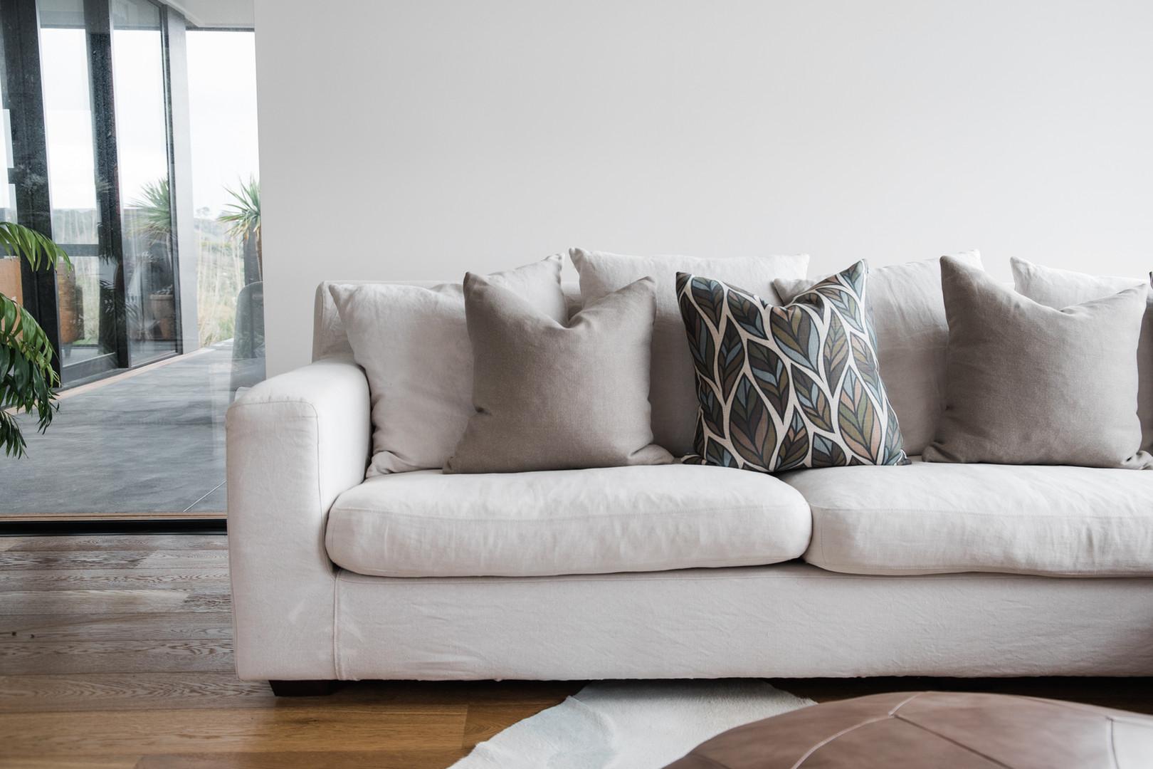 Leaf cushion on Sofa