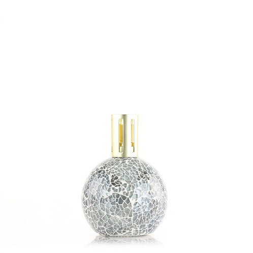 silver mosaic fragrance lamp with gold lid