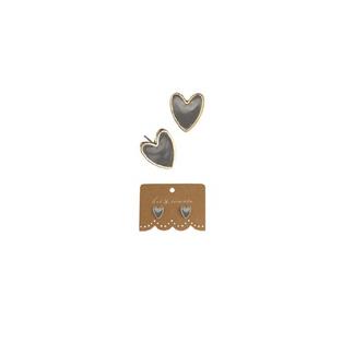 Hot Tomato Silver Enamel Heart Earrings
