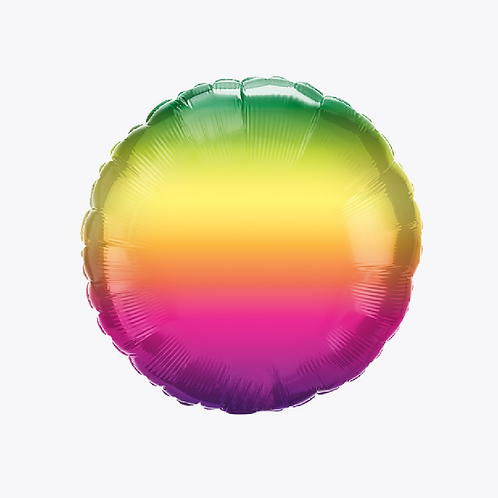 Pink, yellow, orange, green ombre balloon