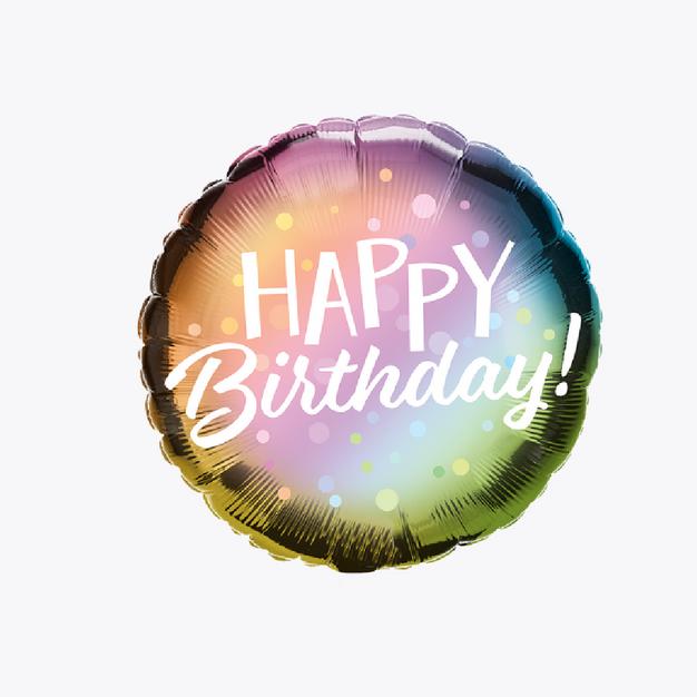 Happy Birthday - Ombre Dots