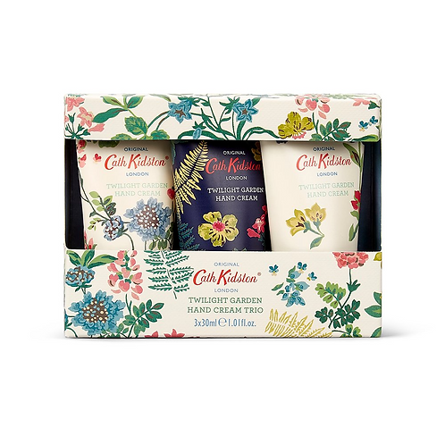 Pack of three hand creams with flower design