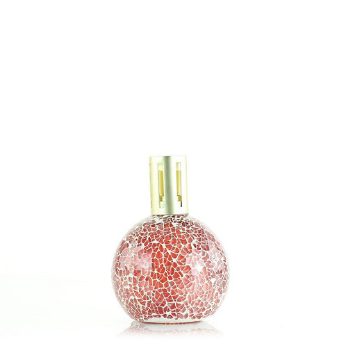 pink mosaic fragrance lamp with gold lid