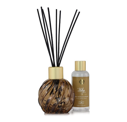 Amber diffuser vessel and bottle